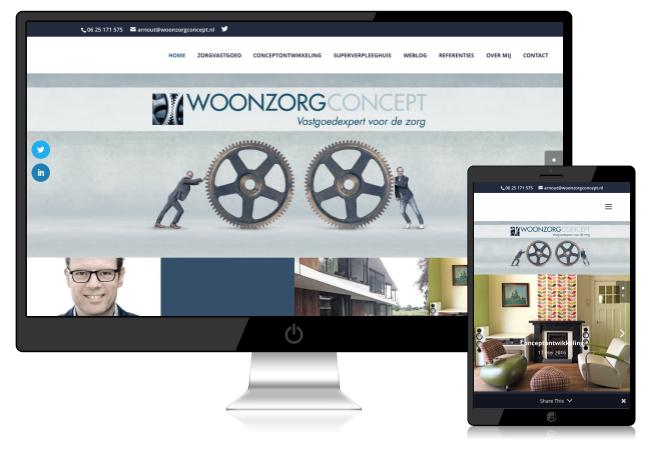 voorbeeld van woonzorgconcept website