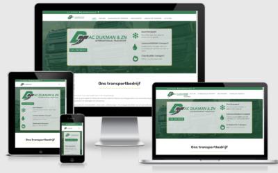 Website voor transportbedrijf