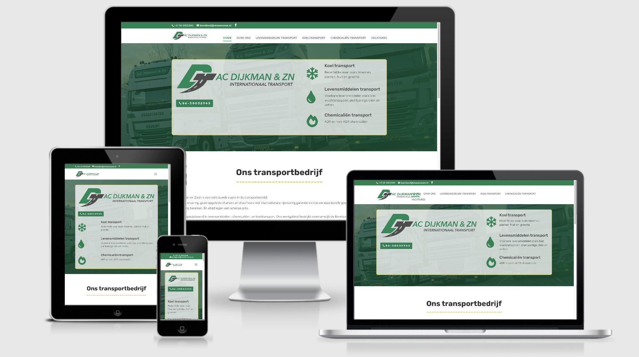 website transportbedrijf