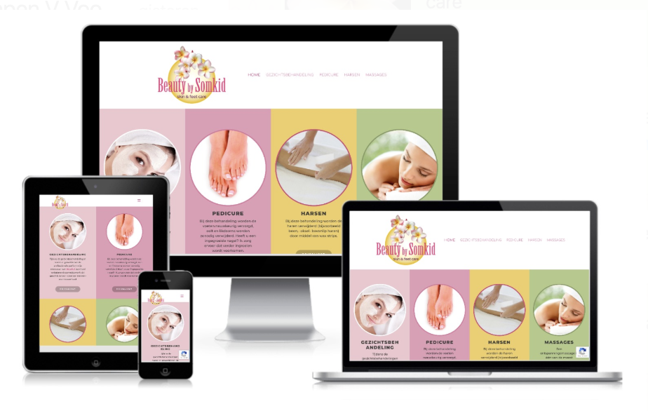 Website voor schoonheidsspecialiste